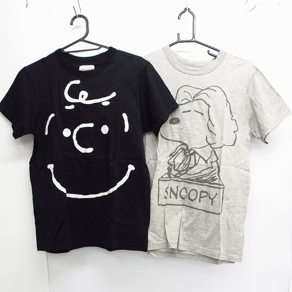 THEATER8×SNOOPY/シアター8×スヌーピープリント ハーフスリーブ/半袖 カットソー/Tシャツ 2点セット