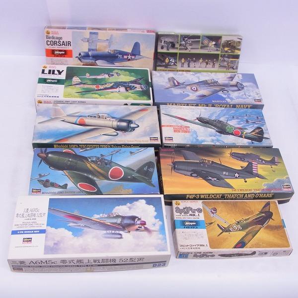 HASEGAWA/ハセガワ 1/72 三菱J2M3 局地戦闘機 雷電21型 川崎キ-61 三式戦闘機Ⅰ型丁 飛燕 等 プラモデル 10点セット