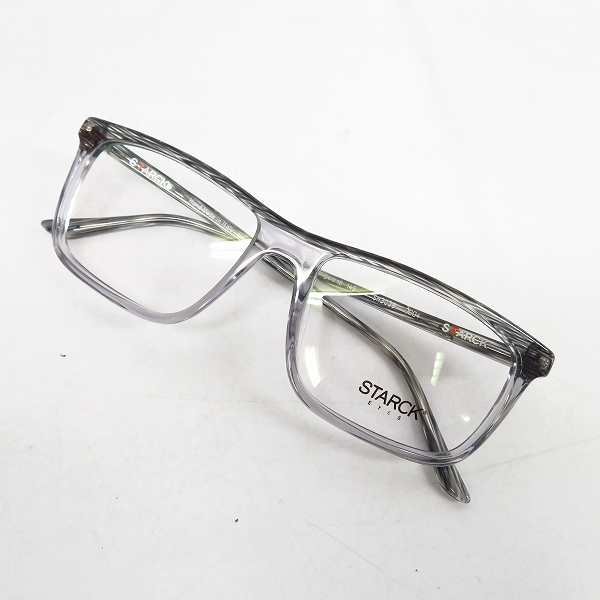 STARCK EYES/スタルクアイズ クリア/スクエア型 眼鏡/メガネフレーム SH3038 0004