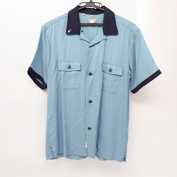 DELUXE/デラックス EL DIABLO 刺繍 半袖 ボーリングシャツ M