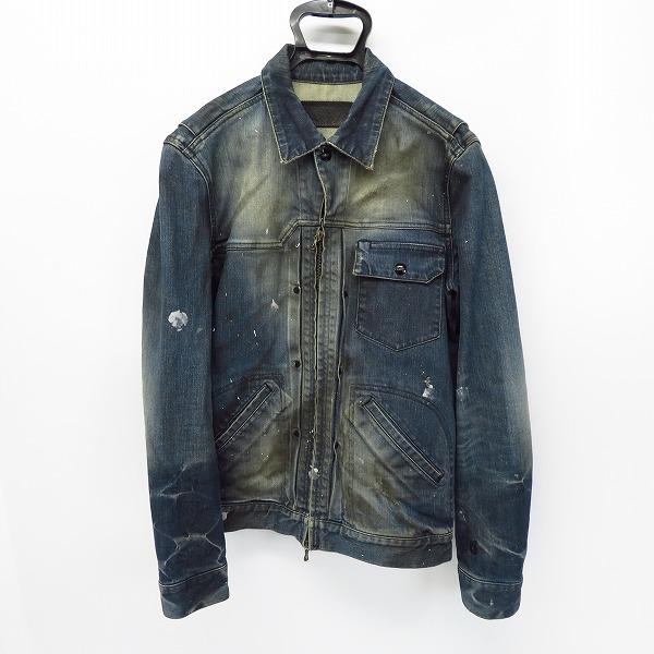 実際に弊社で買取させて頂いたCOALBLACK/コールブラック ペイント加工 デニムシャツ/ジャケット インディゴ/S