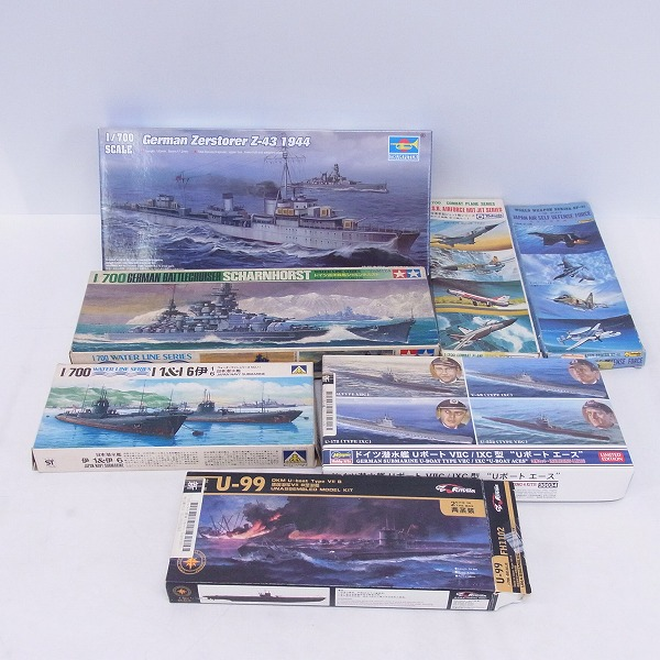 TAMIYA/タミヤ TRUMPETER/トランペッター 他 1/700 ドイツ巡洋戦艦シャルンホルスト等 プラモデル 7点セット